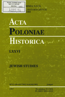 Acta Poloniae Historica. T. 76 (1997), Title pages, Contents