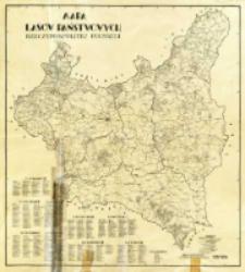 Mapa lasów państwowych Rzeczypospolitej Polskiej