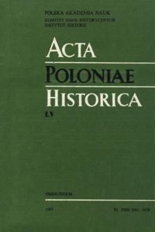 Acta Poloniae Historica. T. 55 (1987), Vie scientifique