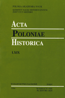 Acta Poloniae Historica. T. 69 (1994), Title pages, Contents