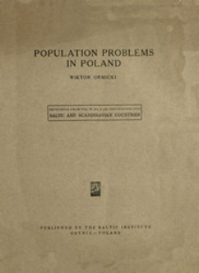 Population problems in Poland