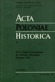 Bibliographie des travaux des historiens polonais, parus en langues étrangères dans les années 1979-1982