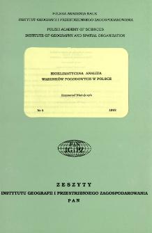Bioklimatyczna analiza warunków pogodowych w Polsce