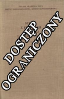 Studia z Filologii Polskiej i Słowiańskiej T. 29 (1991)