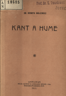 Kant a Hume