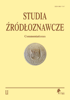 Studia Źródłoznawcze = Commentationes T. 51 (2013), Zapiski krytyczne