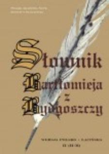 Słownik Bartłomieja z Bydgoszczy : wersja polsko-łacińska. Cz. 4, (Plemię-Pytlowany)