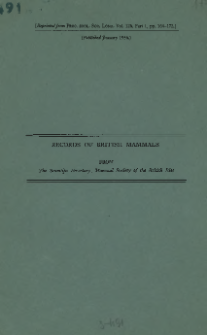 Records of british mammals