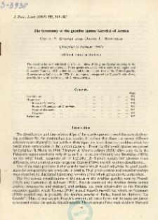 The taxonomy of the gazelles (genus Gazella) of Arabia