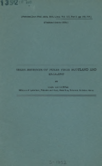 Measurements of foxes from Scotland and England