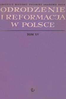 Odrodzenie i Reformacja w Polsce T. 15 (1970), Title pages, Contents