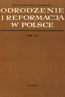 Odrodzenie i Reformacja w Polsce T. 16 (1971), Title pages, Contents, Errata