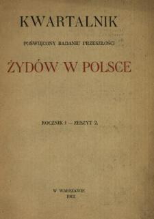Kwartalnik Poświęcony Badaniu Przeszłości Żydów w Polsce