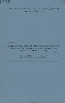 Notes on the habits of the Tasmanian dormouse phalangers Cercaertus nanus (Desmarest) and Eudromicia lepida (Thomas)