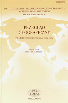 O sporze pokoleniowym w polskiej geografii i jego uwarunkowaniach = On the inter-generational dispute in Polish geography and its conditioning