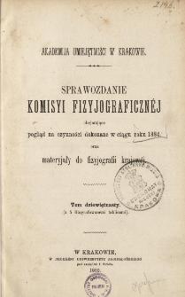 Sprawozdanie Komisji Fizjograficznej T. 19 (1888)
