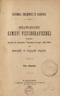 Sprawozdanie Komisji Fizjograficznej T. 18 (1883)