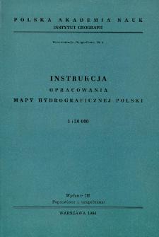 Instrukcja opracowania mapy hydrograficznej Polski 1:50 000