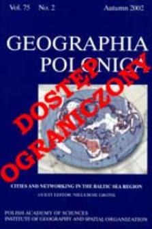 Geographia Polonica Vol. 75 No. 2 (2002)