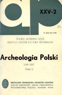 Archeologia Polski T. 25 (1980) Z. 2, Kronika