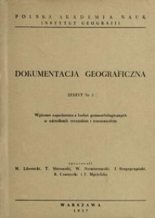 Wybrane zagadnienia z badań geomorfologicznych w ośrodkach toruńskim i warszawskim