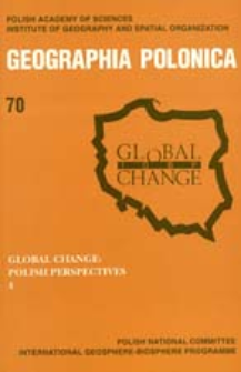 Geographia Polonica 70 (1997), Global Change : Polish Perspectives 4