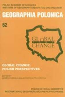 Geographia Polonica 62 (1994 ), Global Change : Polish Perspectives