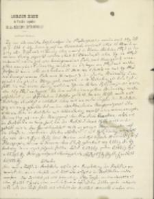 Załącznik do listu Marcelego Nenckiego (1847-1901) do Leona Marchlewskiego (1869-1946) z 23.05.1901