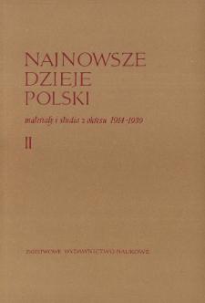 Najnowsze Dzieje Polski : materiały i studia z okresu 1914-1939 T. 2 (1959), Title pages, Contents