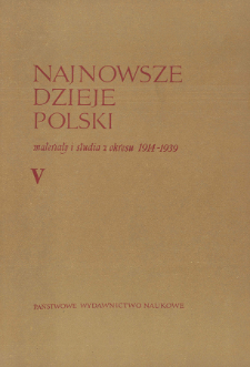 Najnowsze Dzieje Polski : materiały i studia z okresu 1914-1939 T. 5 (1962), Title pages, Contents