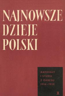 Najnowsze Dzieje Polski : materiały i studia z okresu 1914-1939 T. 10 (1966), Title pages, Contents