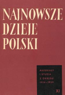 Najnowsze Dzieje Polski : materiały i studia z okresu 1914-1939 T. 11 (1967), Title pages, Contents