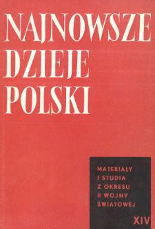 Najnowsze Dzieje Polski : materiały i studia z okresu 1914-1939 T. 14 (1969), Title pages, Contents