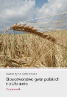 Słowotwórstwo gwar polskich na Ukrainie : czasownik