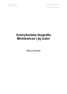 Amerykańska biografia Mickiewicza i jej autor