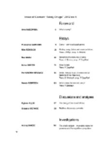 Teksty Drugie Nr 5 (2012), Index of content