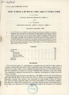 Studies of disease in the Red fox (Vulpes vulpes) in Northern Ireland