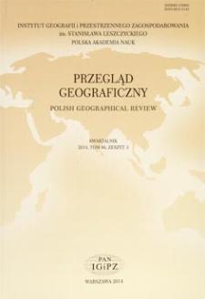 Przegląd Geograficzny T. 86 z. 3 (2014), Spis treści