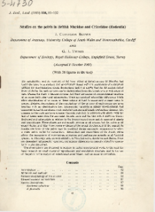Studies on the pelvis in British Muridae and Cricetidae (Rodentia)