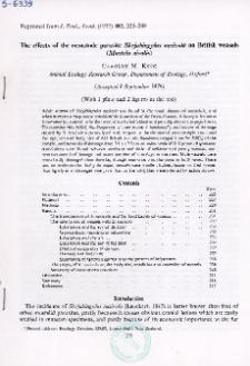 The effects of the nematode parasite Skrjabingylus nasicola on British weasels (Mustela nivalis)