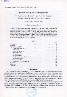 Primate ecology and social organization