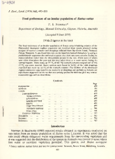 Food preferences of an insular population of Rattus rattus