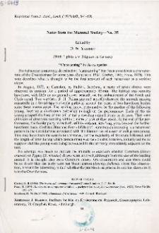 """""""Caravanning"""" in Sorex species"""