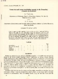 Serum iron and serum iron-binding capacity in the Dromedary (Camelus dromedarius)