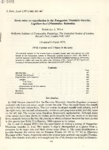 Some notes on reproduction in the Patagonian Mountain viscacha, Lagidium boxi (Mammalia: Rodentia)