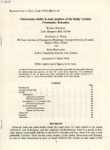 Chromosome studies in some members of the family Caviidae (Mammalia: Rodentia)