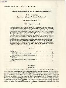 Pinnipeds or sierenians at western Indian Ocean Islands?