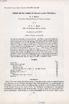 Islands and the evolution of Microtus arvalis (Microtinae)