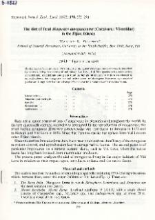 The diet of feral Herpestes auropunctatus (Carnivora: Viverridae) in the Fijian Islands