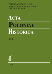 Acta Poloniae Historica. T. 105 (2012), Short notes
